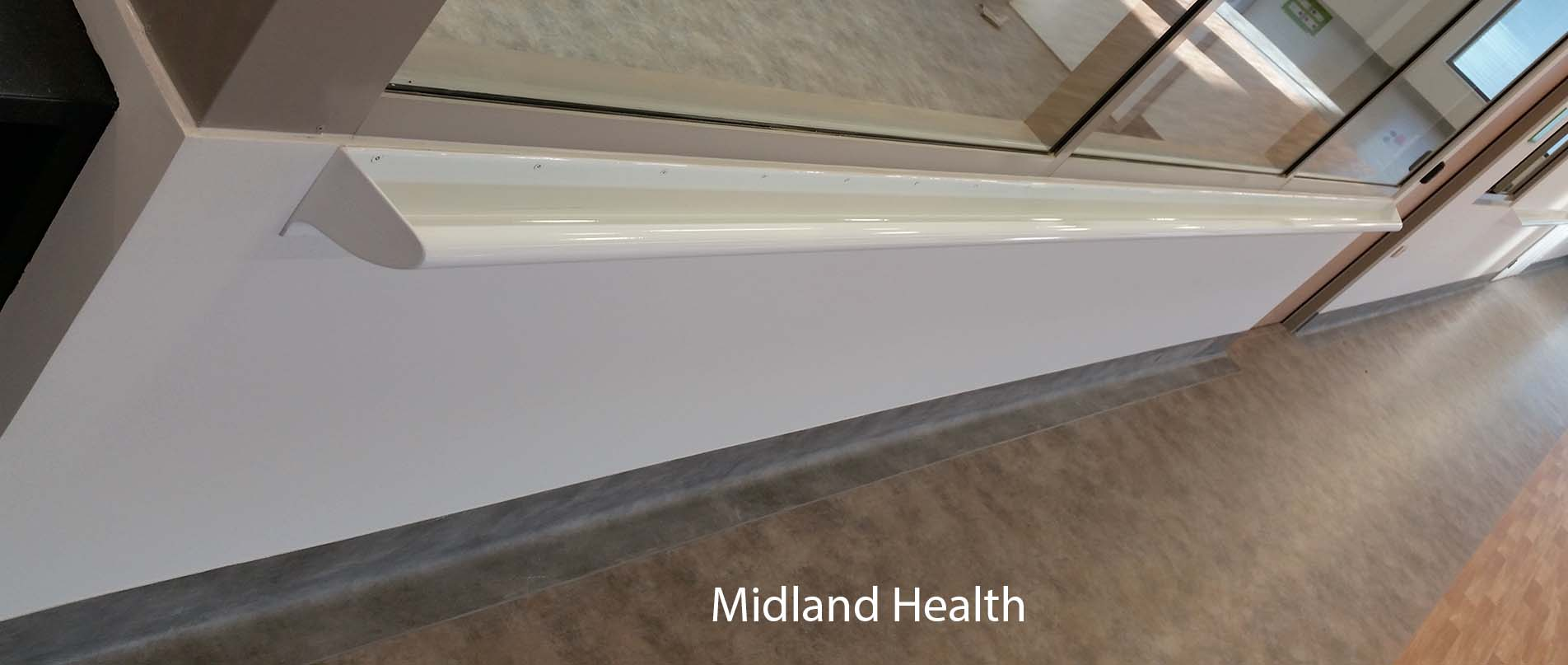 Midland health vinyl handrail past project