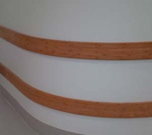 curved bamboo crash rail