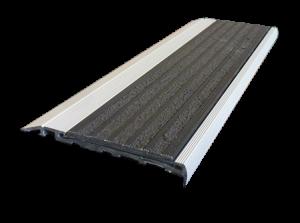 10mm aluminium retainer and Tiger 2.0 stair nosing tread Insert.