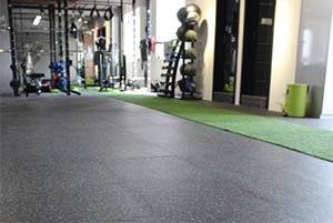 Gym single iterlocking tiles project pic