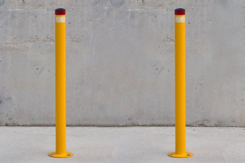 round cheap bollards