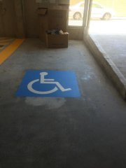 disability bay line marking blue