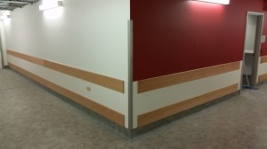 Wall guard installed at midland health in perth