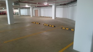 Wheel stops Installed in the Carpark