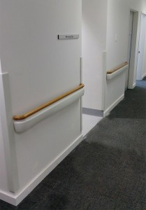 Novarail handrail cominations installled at Harvey Health