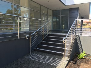 High slip resistant stair nosing installed at Cedric street