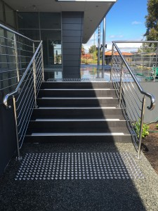 Chemical resistant stair nosing installed at cedric street