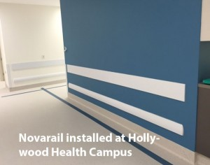 Crash bumper rail installed at hollywood health campus