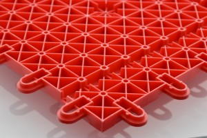 Interlocking mats red