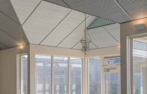 Acoustic ceilings intalled in pool