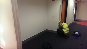 Novaproducts Installing Skirting at the New Childrens Hospital in Perth