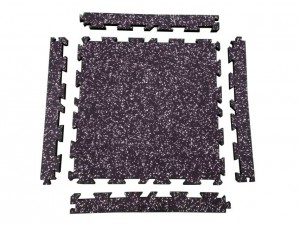Full interlocked gym flooring mat piece