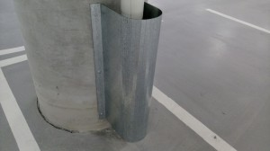 galvanised downpipe protector