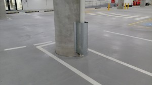 downpipe protector car park