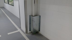 Downpipe protector installed at new childrens hospital
