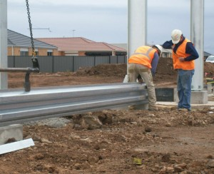 installation of stainless steel noise wall