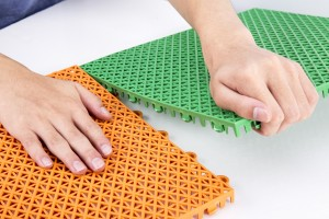Sports interlocking floor mats