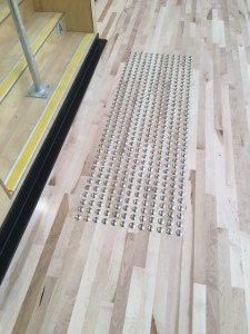 Stainless steel tactiles installed at Mandurah aquatic
