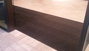 Black entry mat
