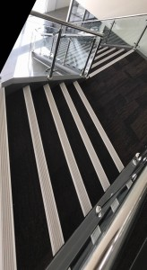 Striped stair nosing installed in WA