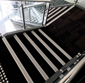 Tiger stair nosing installed at metl training